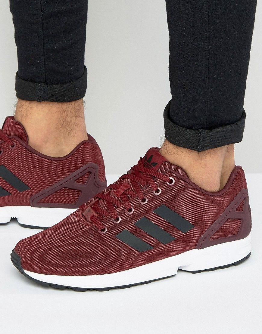adidas originali zx flusso scarpe in rosso bb2172 rosso