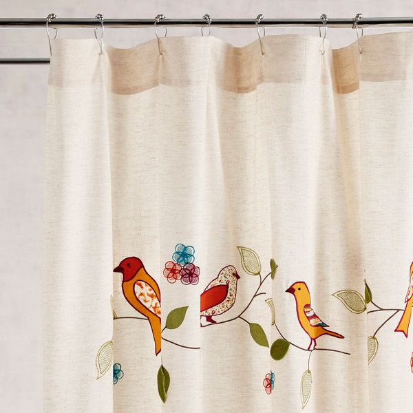 Pier 1 Imports Birds On A Branch Shower Curtain 50 Liked Polyvore Featuring Home Bed Bath Curtains Bird And