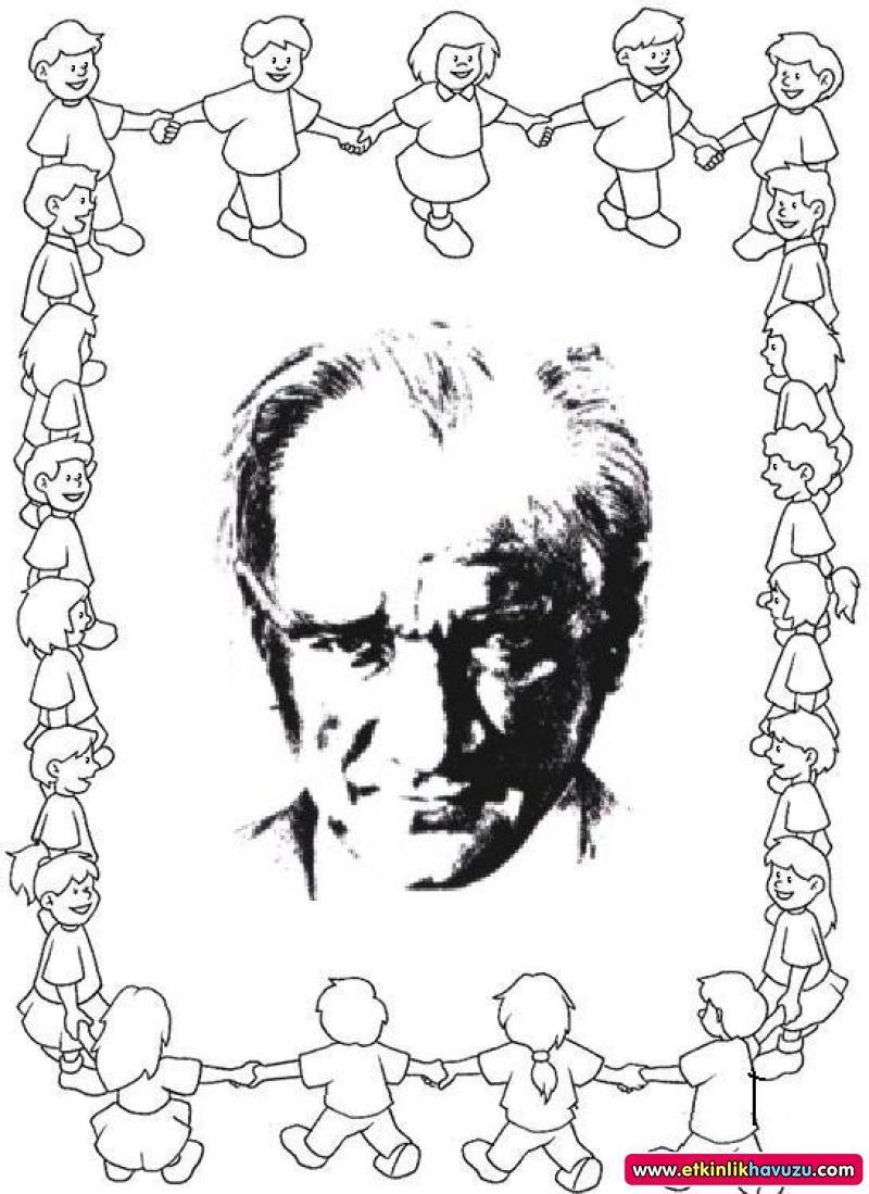 Okul Oncesi Ataturk Ve 23 Nisan Etkinlikleri Boyama Sayfalari