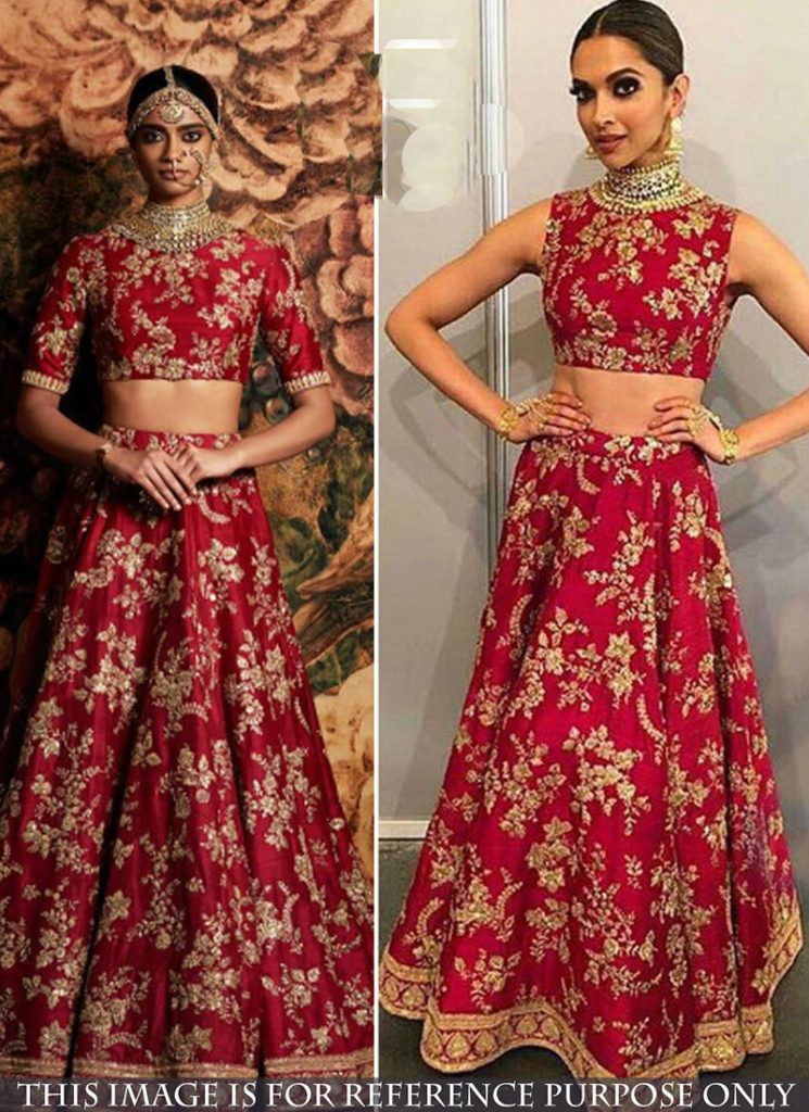 Deepika Padukone Lehenga Choli Online | Silk lehenga ...