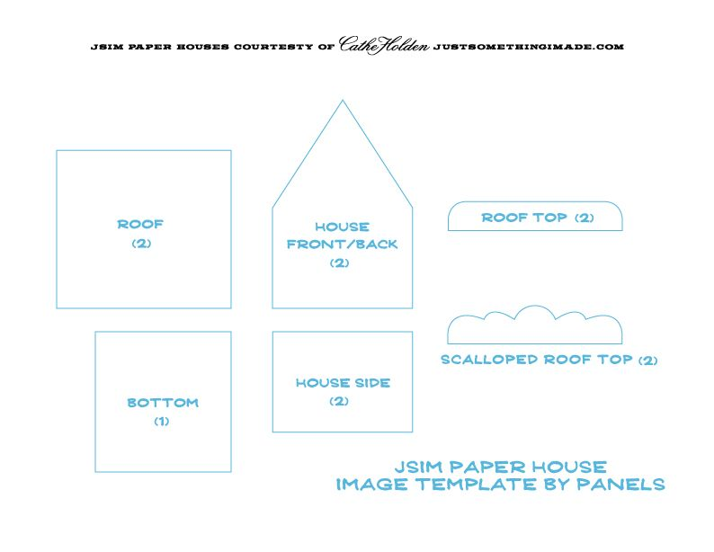 Free O Scale Paper House Printable Templates | Trace Each Panel