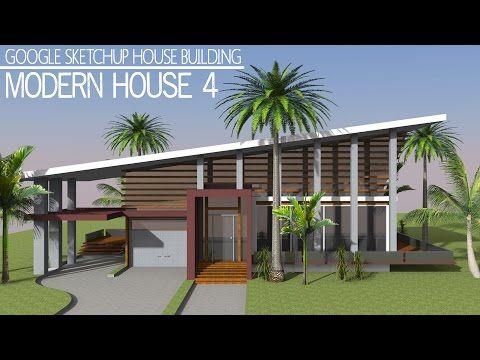 Sketchup modern houses