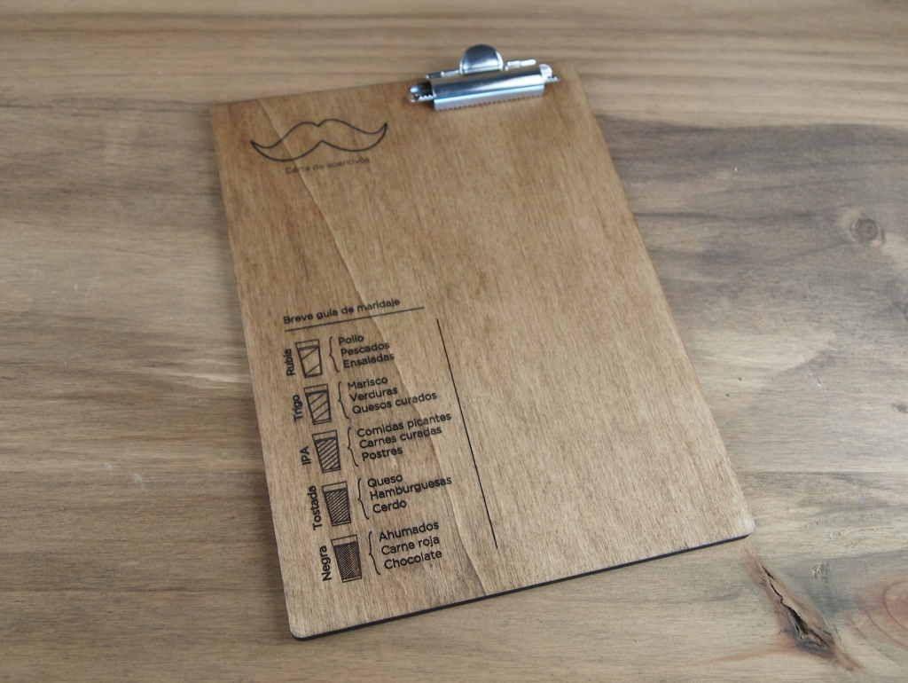 Nuestras cartas de madera grabadas en madera con clipboard - Maderas menur ...