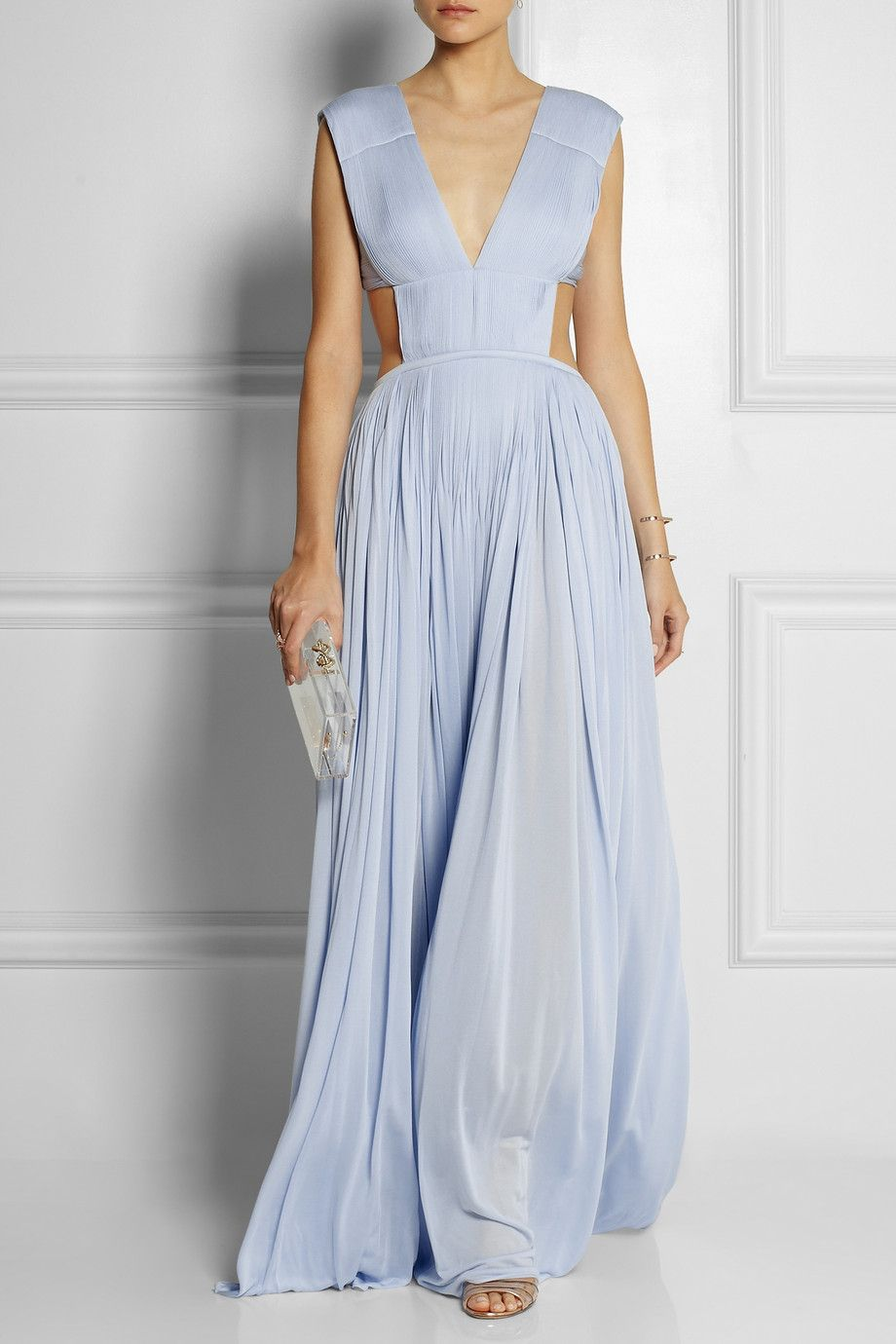 Vionnet cutout plissécrepe gown love the colour wardrobe