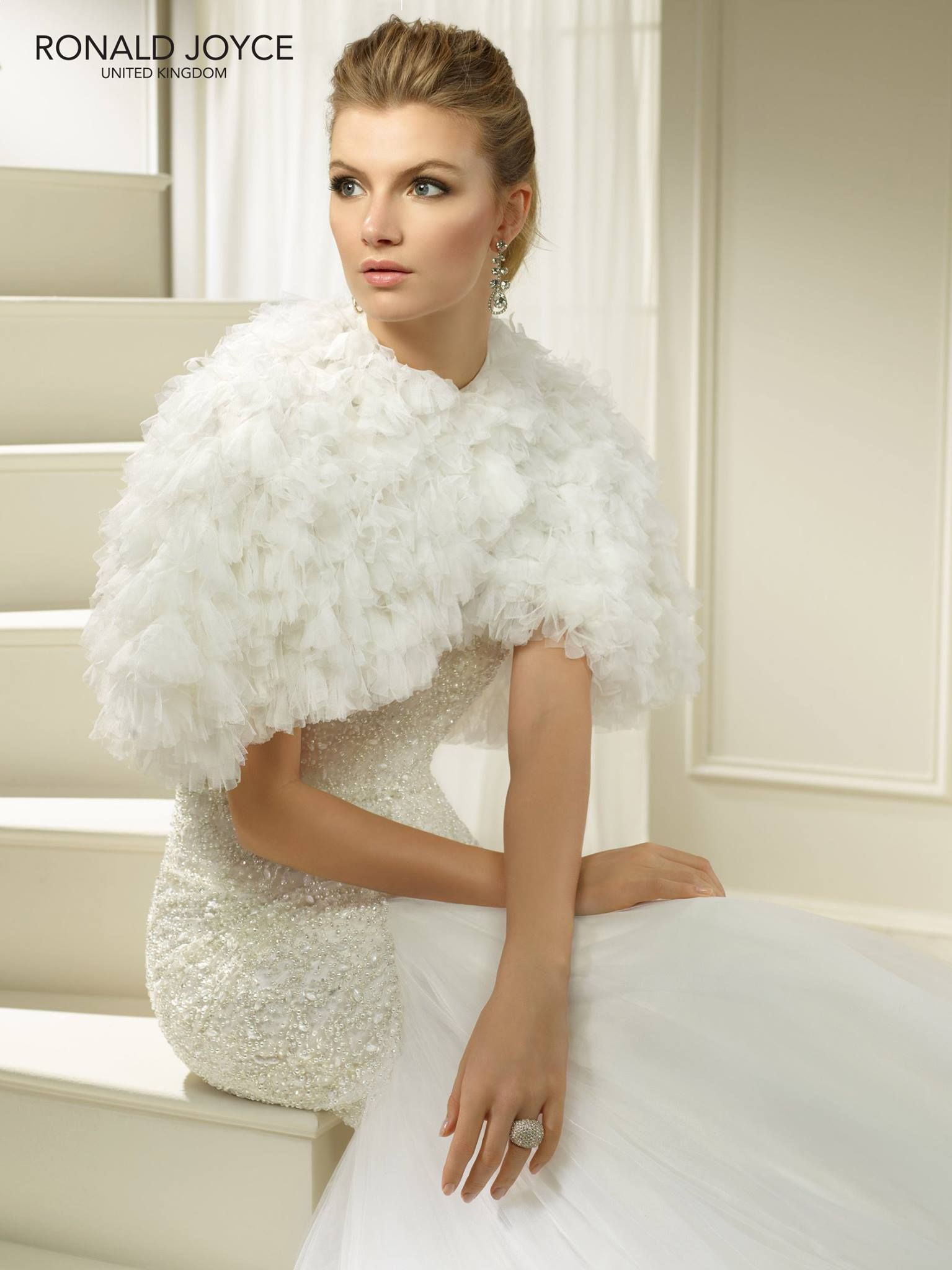 69227 Ronald Joyce wedding dress shrug | Tis the season to get ...