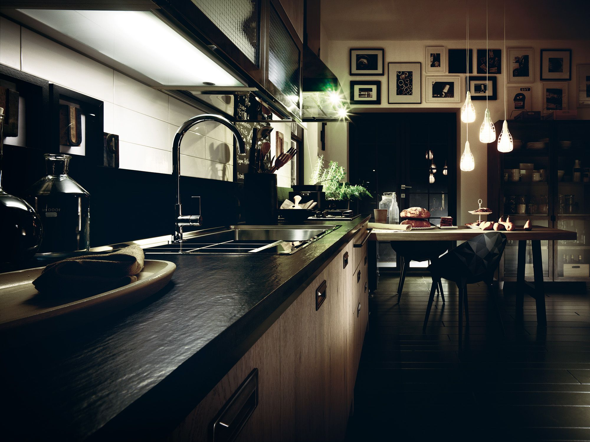 Diesel Social Kitchen design by Diesel. Reinforced glass is ...
