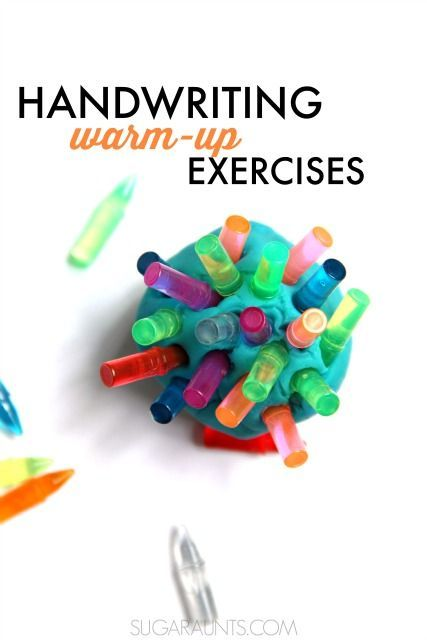 Handwriting warm-up activities and exercises for kids