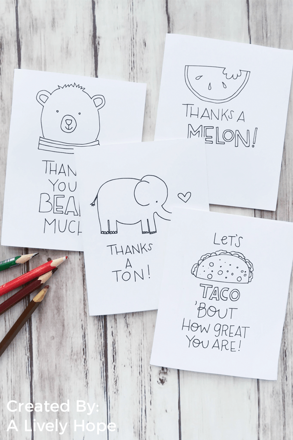 Brighten someone's day with these adorable pun Thank You Cards from A Lively Hope & Little LDS Ideas. Free printable included!