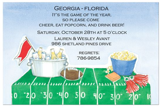 Tailgate Time Invitation Super Bowl Party Ideas Football