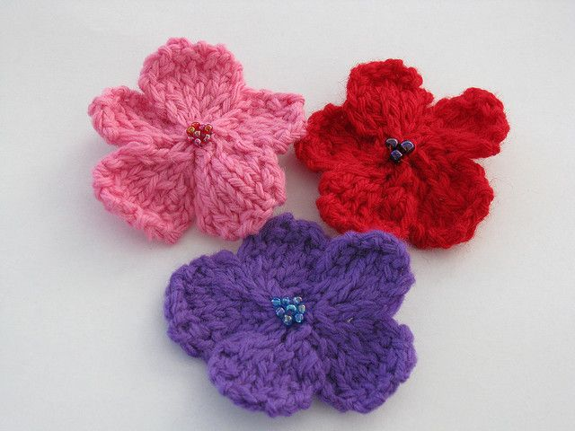 Ravelry Knit Flower Pattern By Sue W Thompson Knitting Patterns