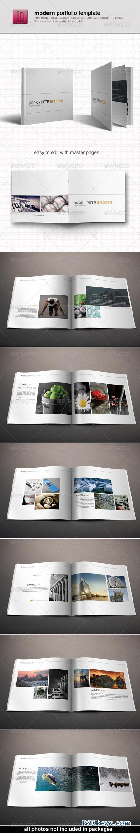 Modern Portfolio Template 6592214 » Free Download Photoshop Vector ...