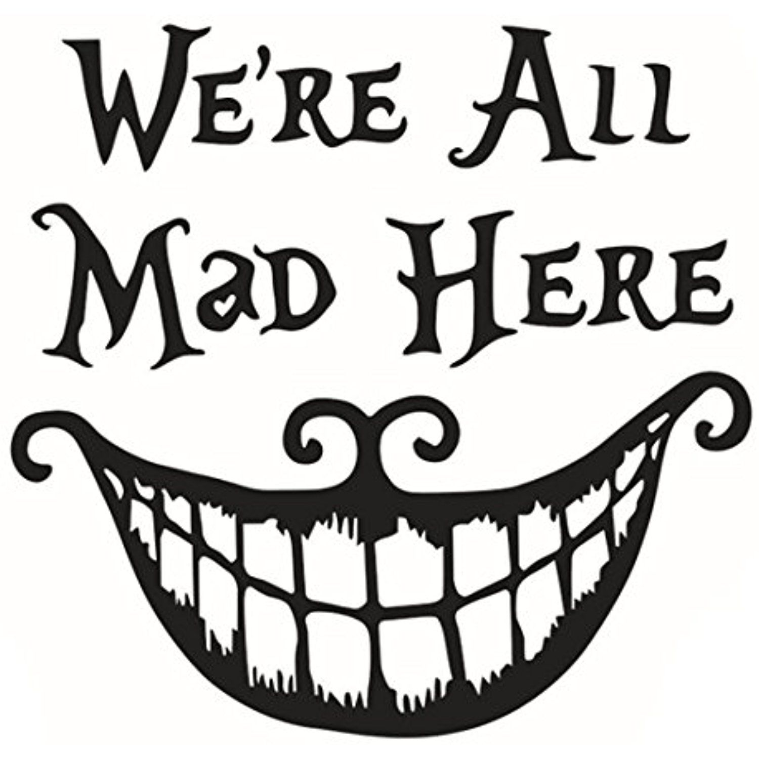 Cheshire Cat Alice in Wonderland We/'re All Mad Here Single Light Switch Plate
