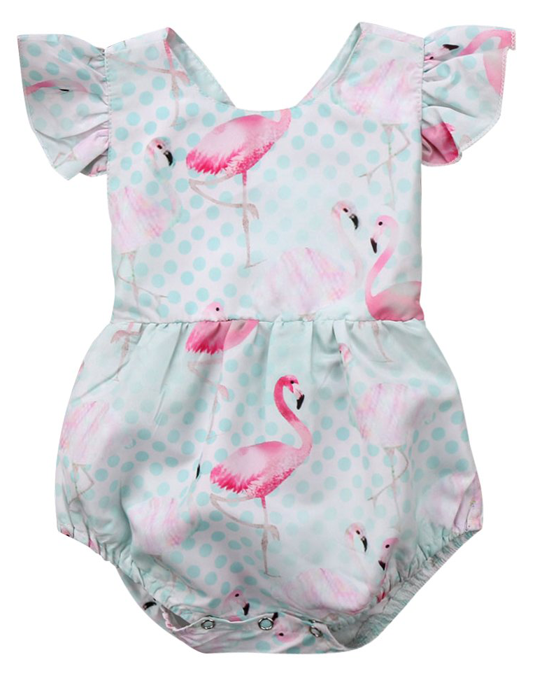 f69bfb881e3d SHOP Our Flamingo Romper for Baby Girls