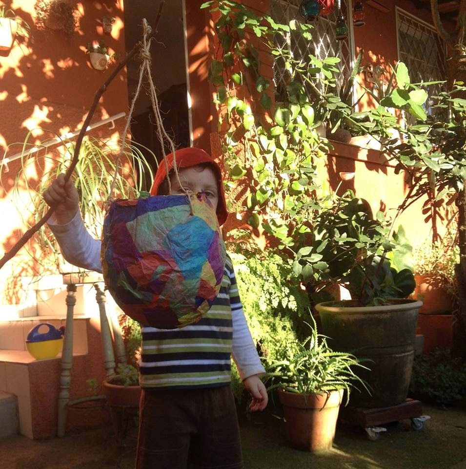 lanterna de balão e papel de seda como fazer paper lantern
