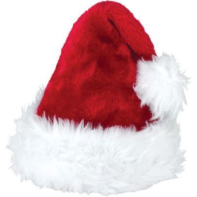 Glitzhome Classic Red Plush Santa Christmas Party Hat Xmas Headgear Costume Cap