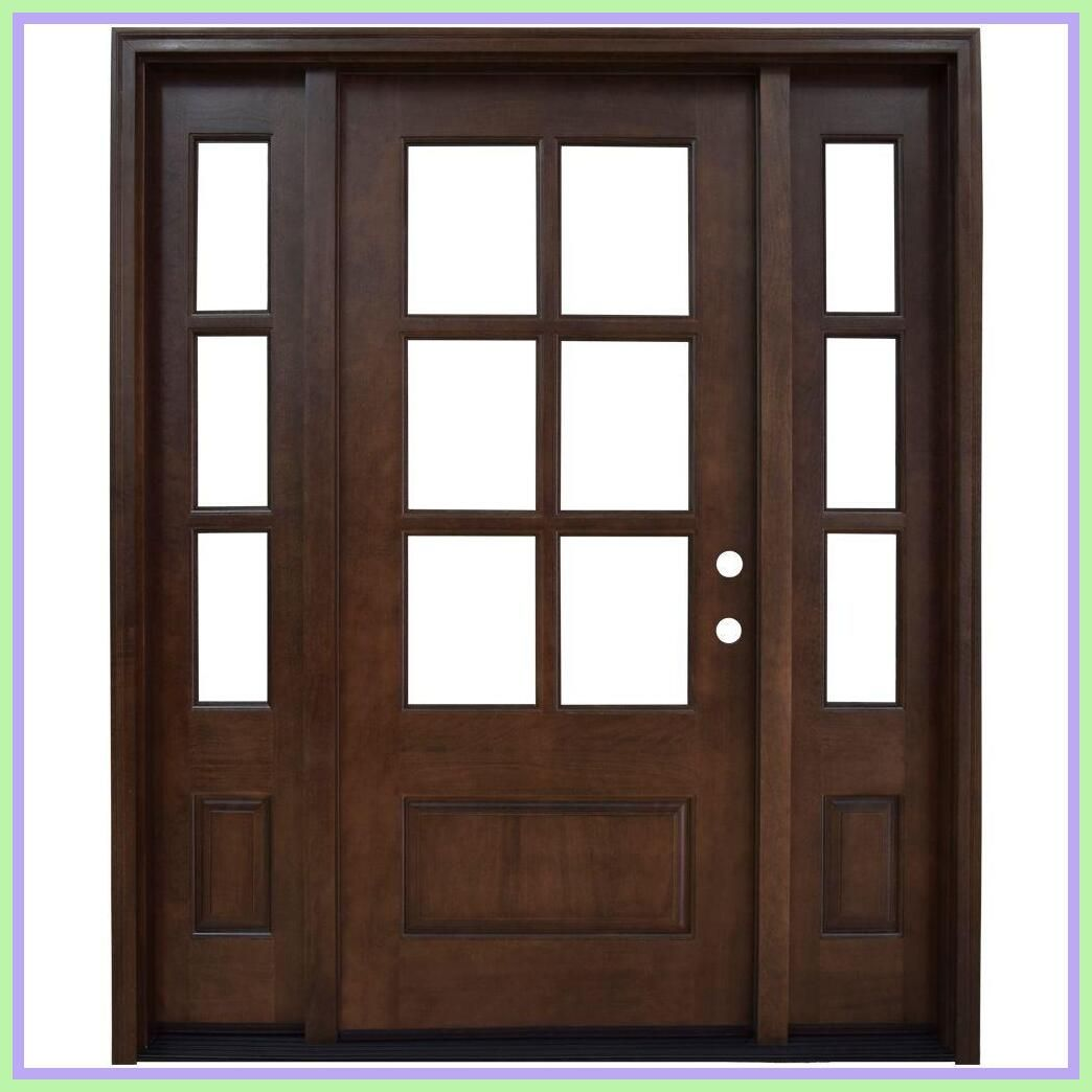 70 Reference Of Wood Front Door With Glass Panes In 2020 Wood Front Doors Wood Entry Doors Wood Exterior Door