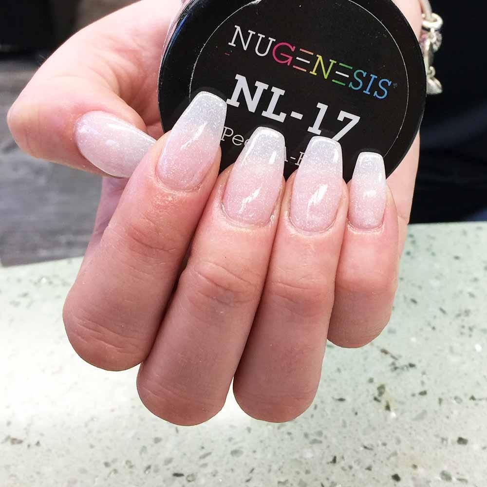 NL 17 Peek-A-Boo | Short stiletto nails, Light pink nails and Sns nails
