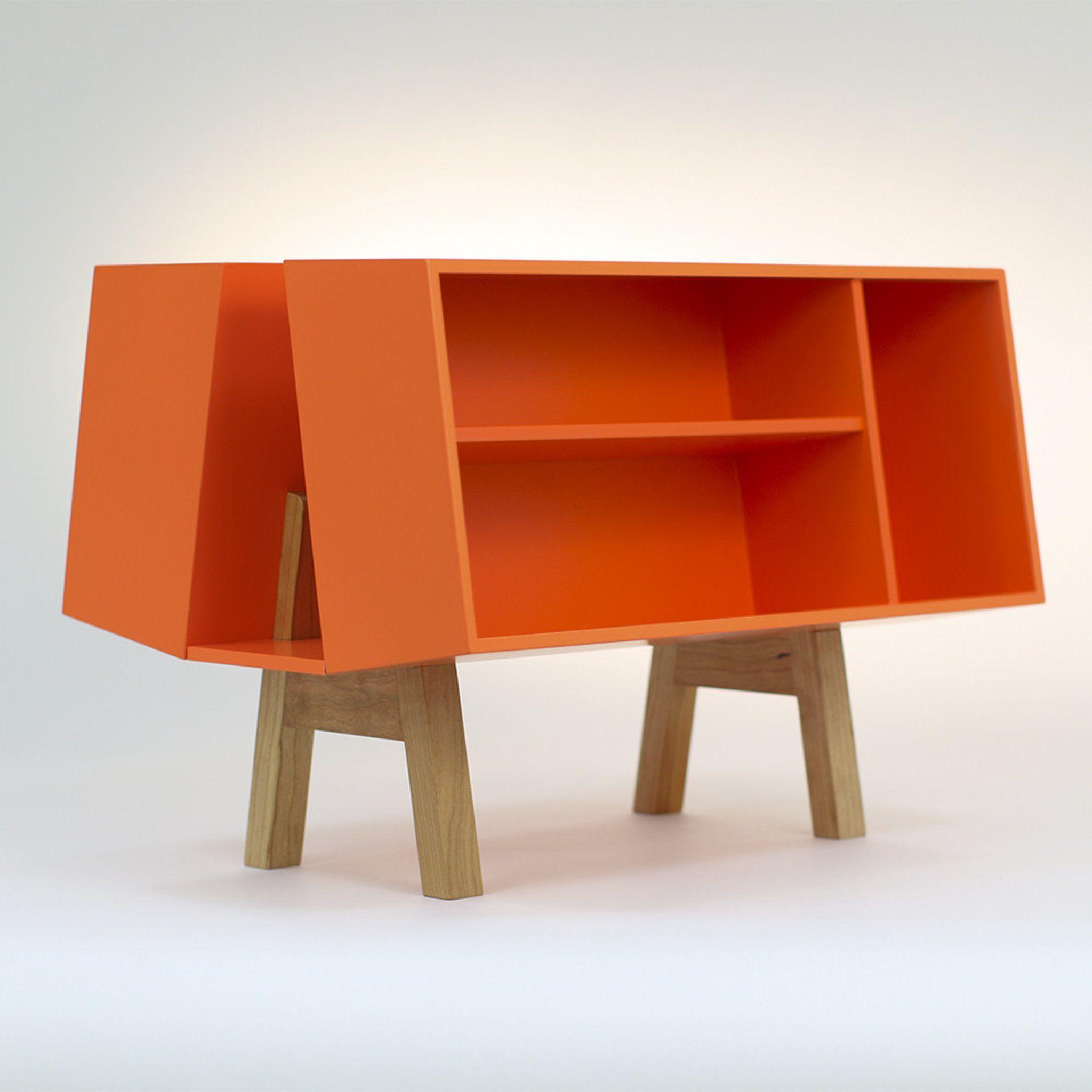 Isokon Penguin Donkey Mark 2 Orange Bookshelf Made For Publishing House
