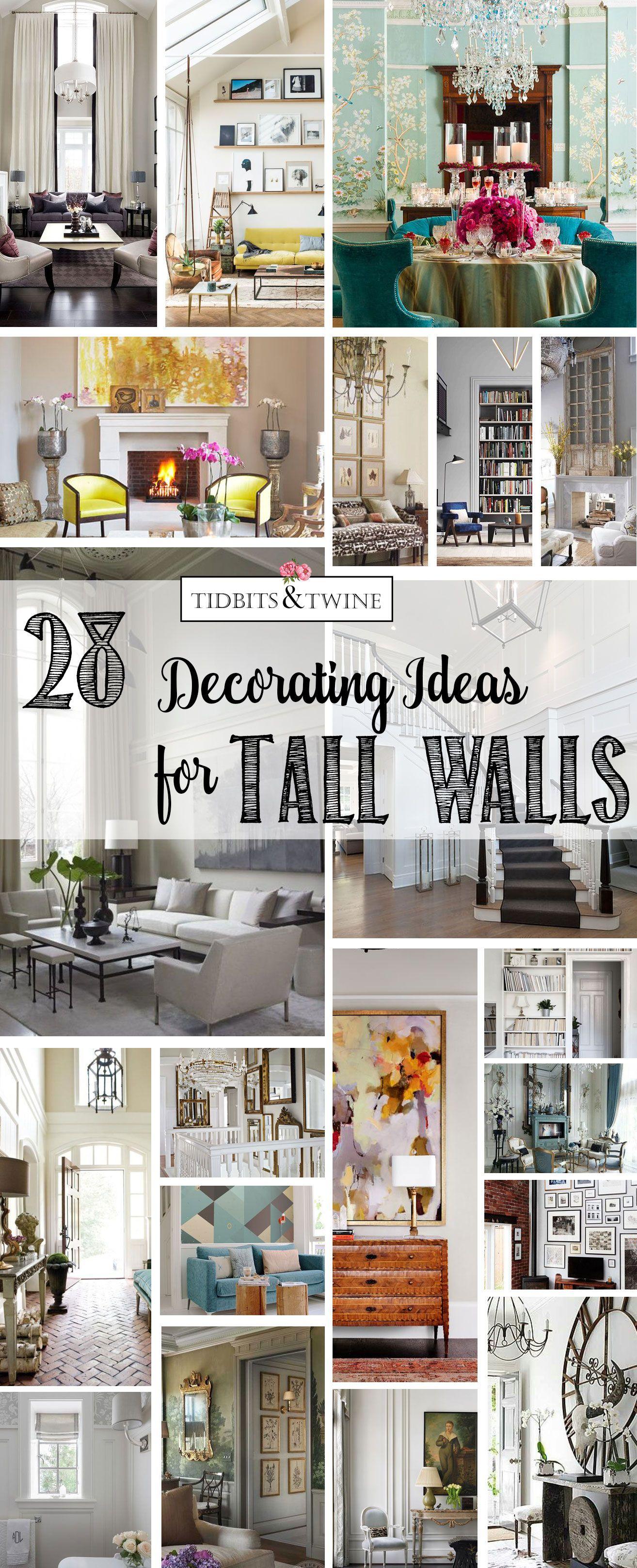28 Creative Decorating Ideas For Tall Walls Tidbits Twine Tall