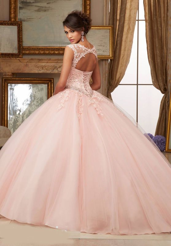Details about New applique Dress Ball Gowns Prom Party Wedding ...