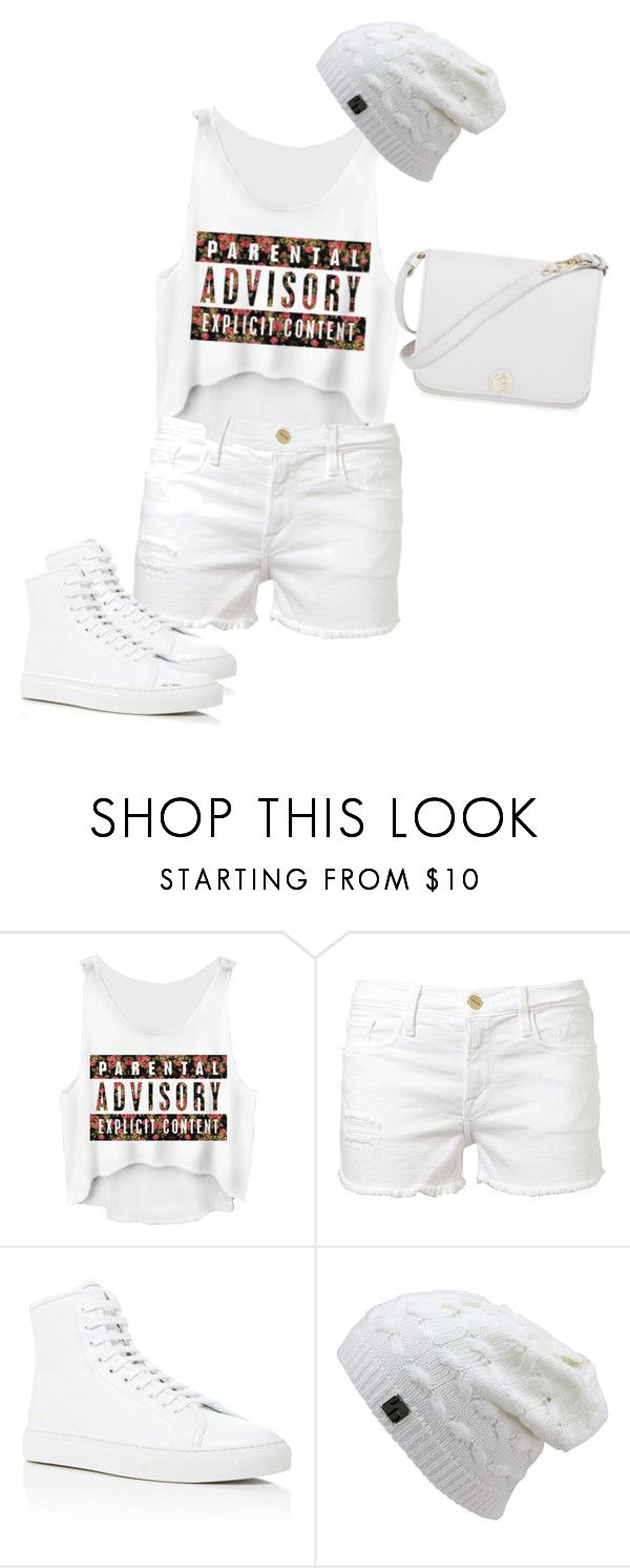 """Untitled #1925"" by sylviabunny ❤ liked on Polyvore featuring Frame Denim, Common Projects and Furla"