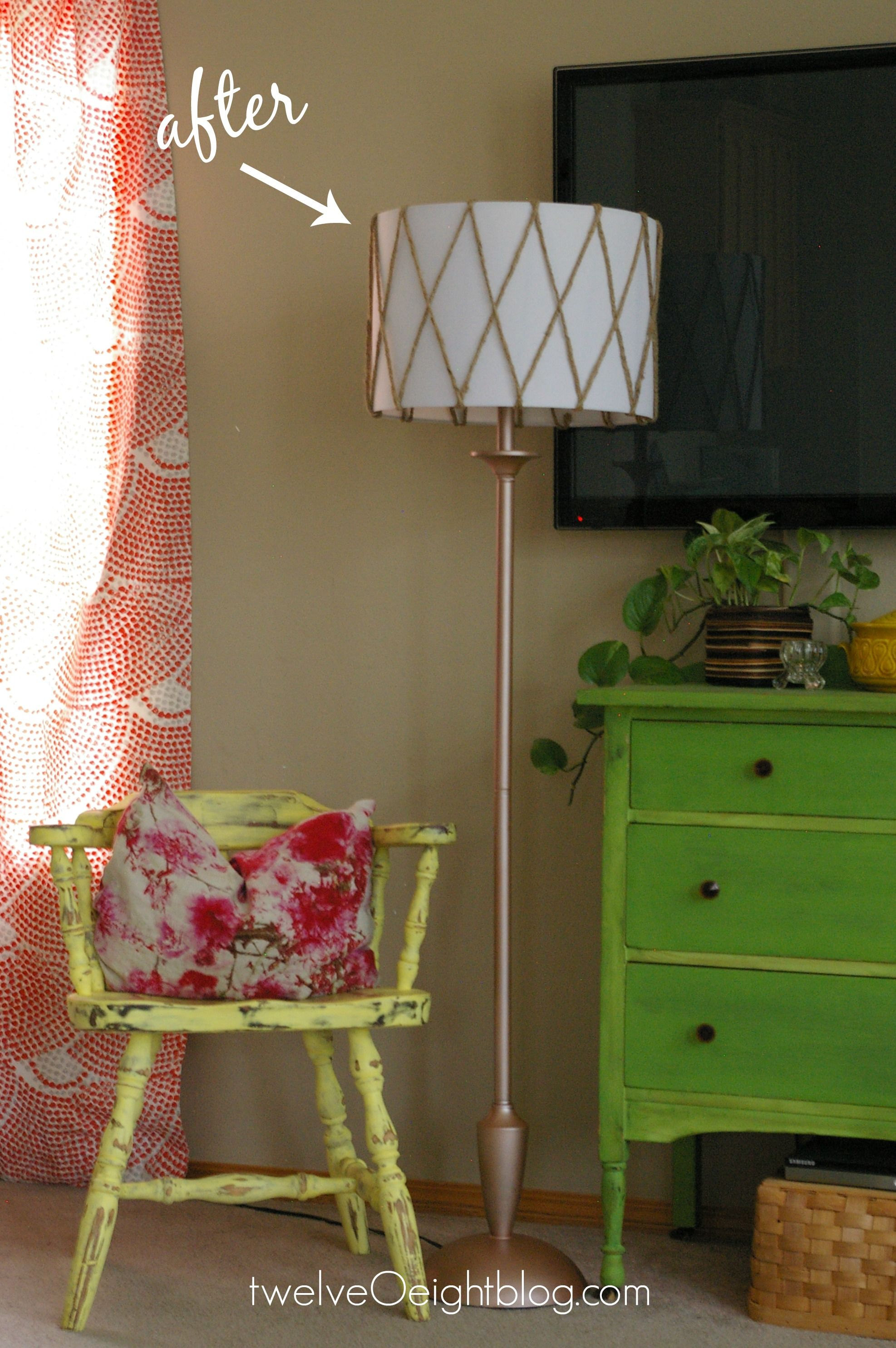 Diy Lamp Makeover Before After Twelveoeight Diy Lamp Makeover Lamp Makeover Floor Lamp Makeover