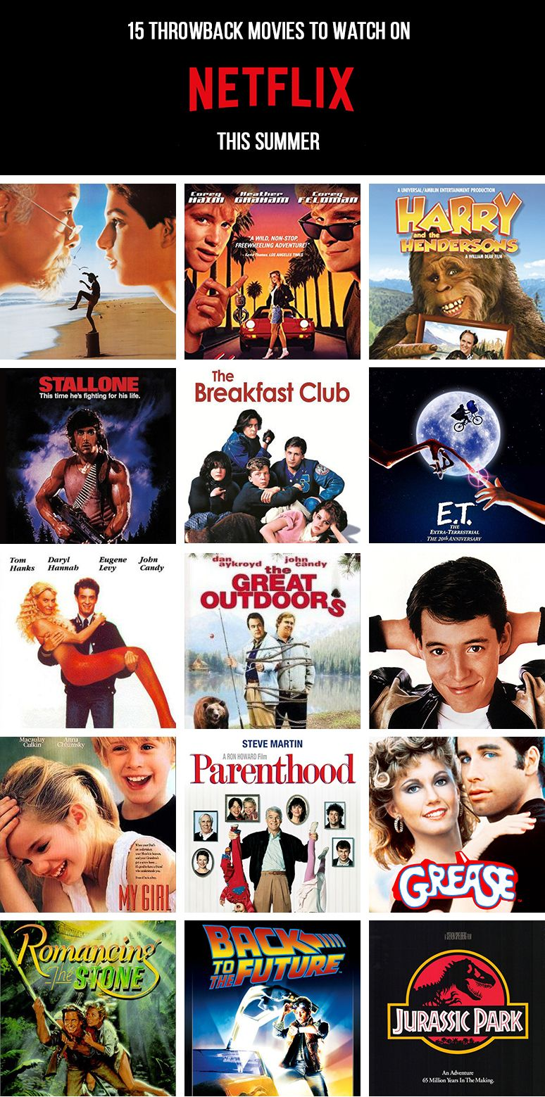 15 Best Throwback Movies To Watch On Netflix This Summer Throwback Movies Movies To Watch Disney Movies To Watch