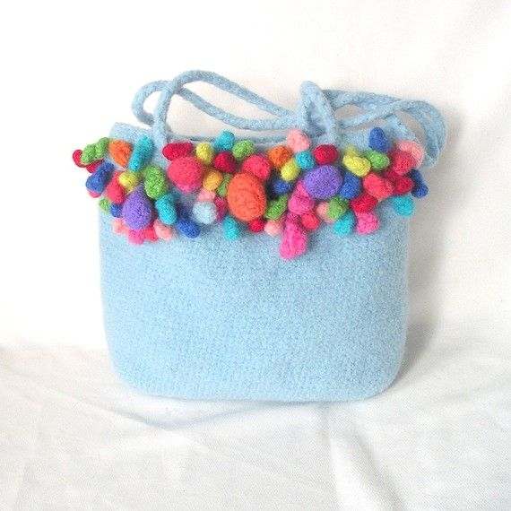 Felted Bag Crochet Bag Pattern Tutorial pdf, Jellybean Bobbles Bag ...