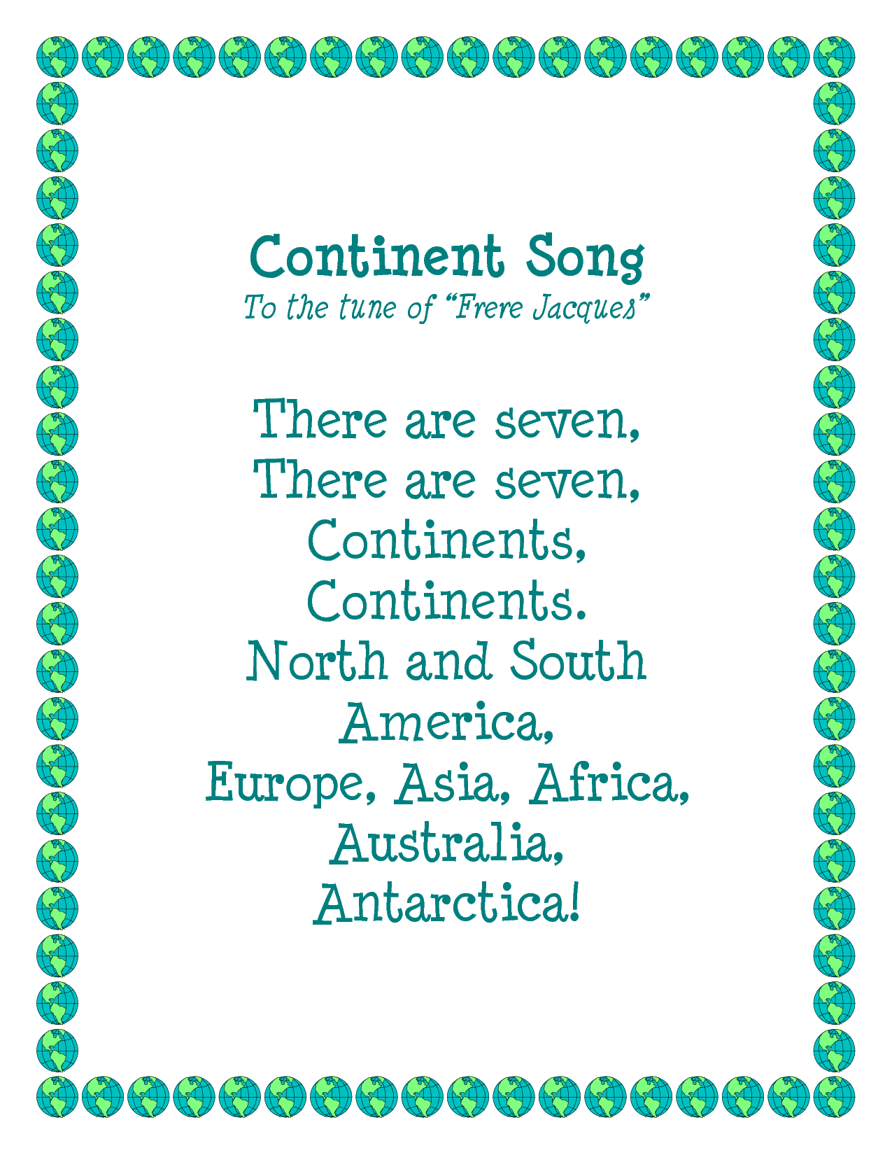 Learning Continents