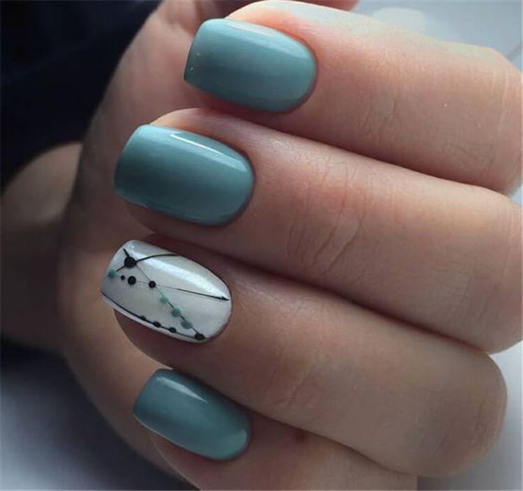 80+ elegant square nail art designs – nail polish – #art #designs #ele …