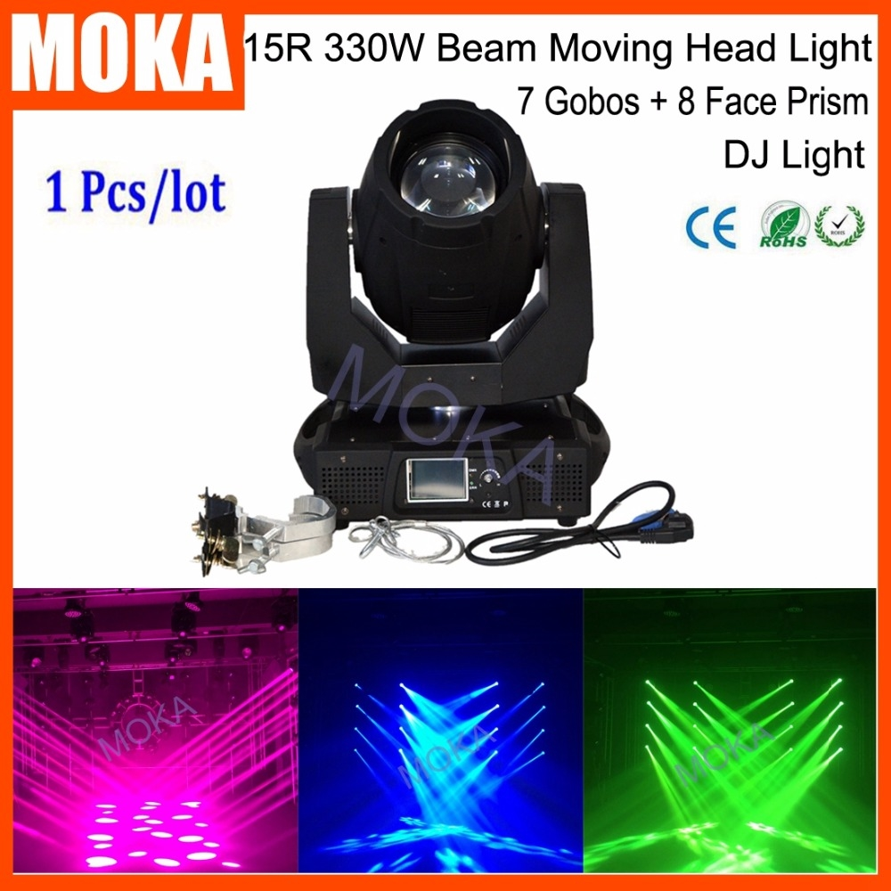 1080.00$  Watch here - http://ali6jx.worldwells.pw/go.php?t=32774006388 - Factory Price 15R 330W Led Moving Head Beam Light IP20 Beam Moving Head Stage Disco Bar 7 Gobos  8 Face Prism Beam Light