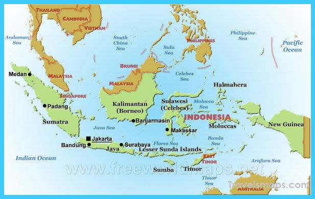 nice Map of Indonesia   Travelsmaps   Beach, Map, Dry ...