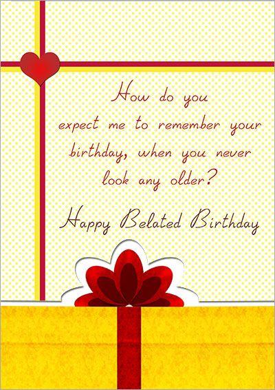 Printable Belated Birthday Cards Belated Birthday Card Free Printable Birthday Cards Birthday Card Printable