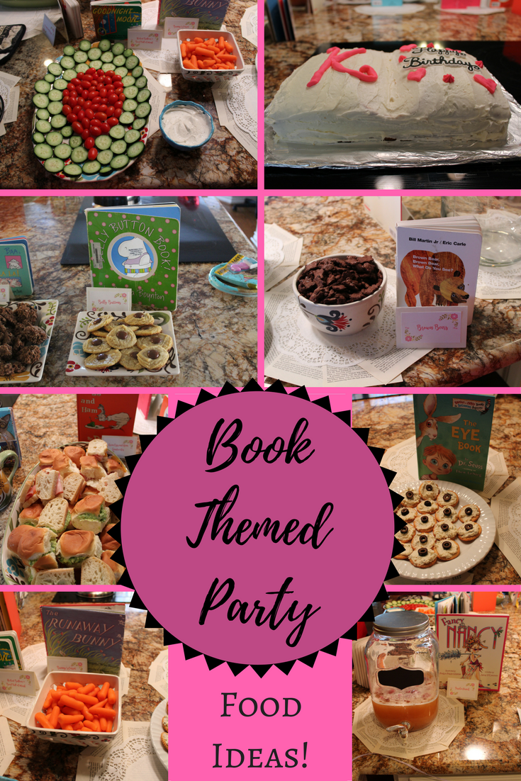 Library Themed Snacks For Bookworm Or Book Birthday Party Book Themed Party Book Birthday Parties Birthday Party Themes