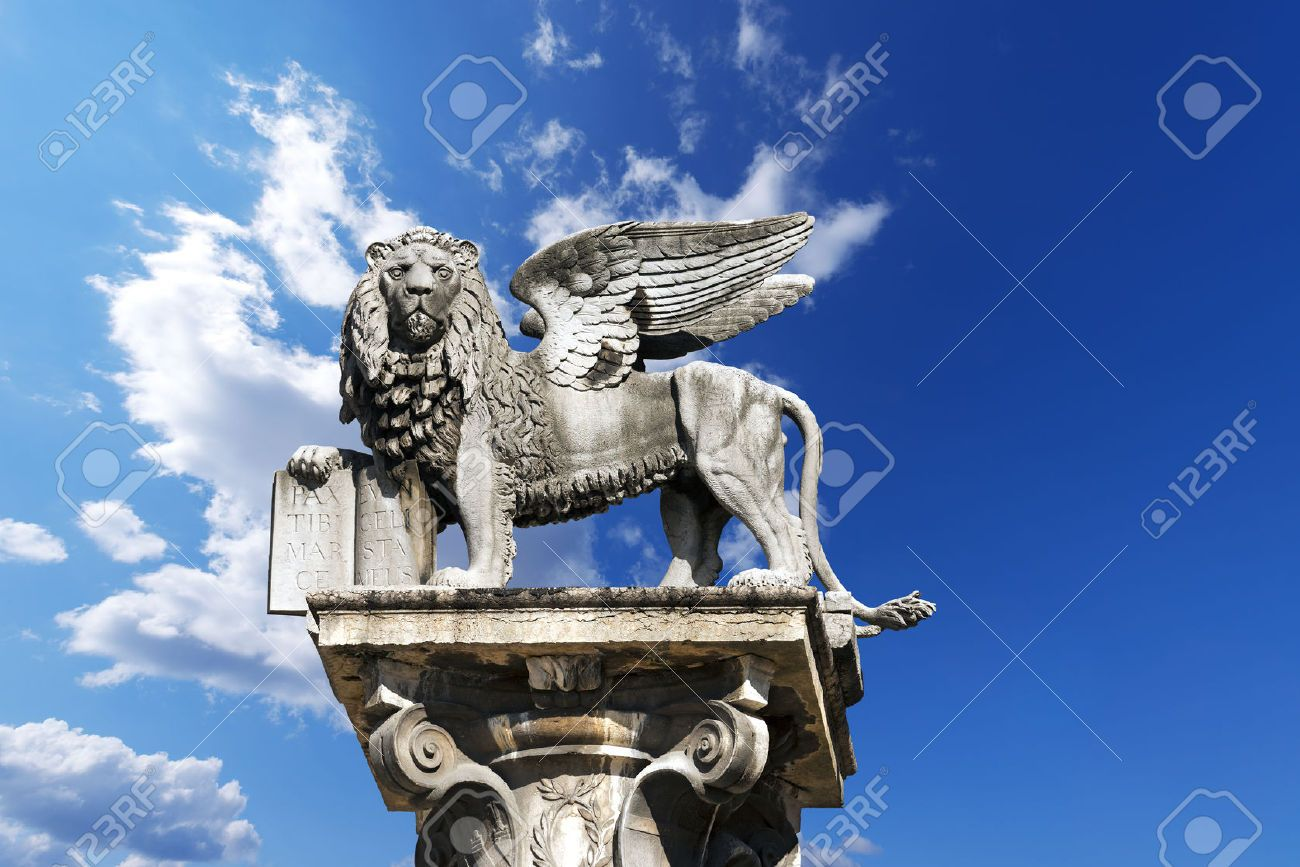 The Winged Lion Of St Mark Symbol Of The Venetian Republic