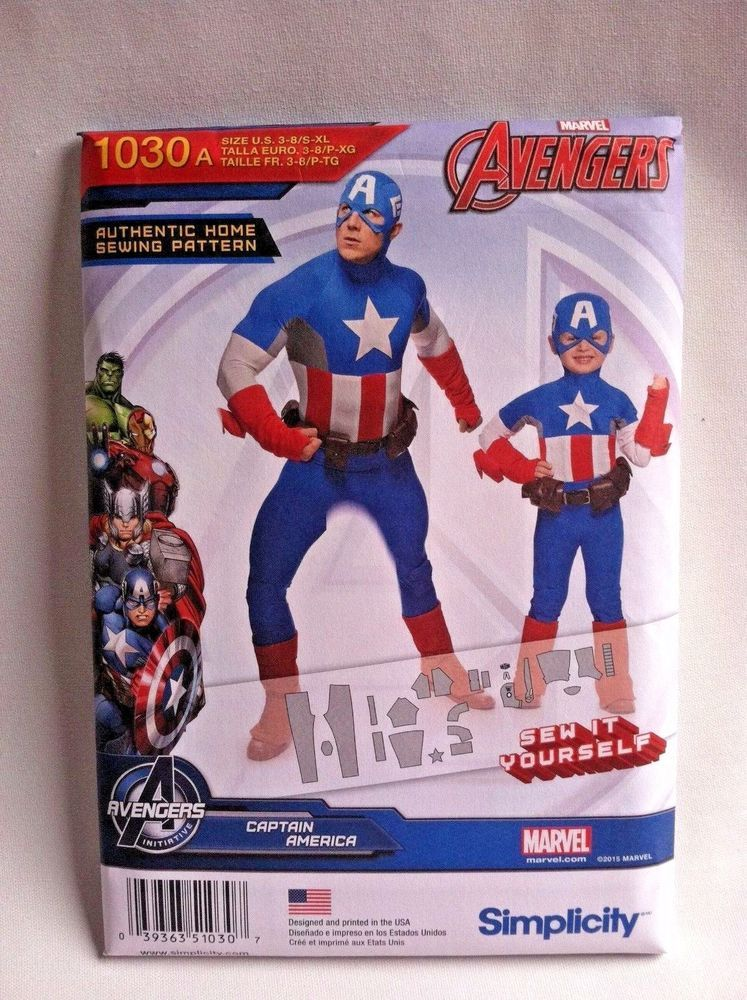 Thor Boys//Mens Costume Sewing Pattern SIMPLICITY 1038 Official Marvel Avengers