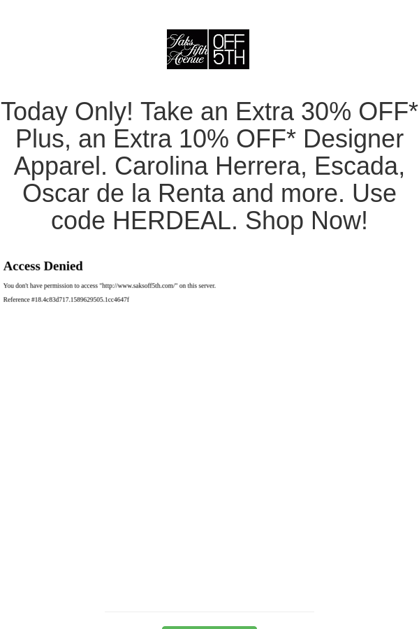 Best Deals And Coupons For Saks Off 5th In 2020 Escada Saks Shop Now