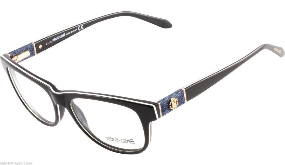 Roberto Cavalli RC0688 048 Womens Eyeglasses Brown Pearl Denim ...
