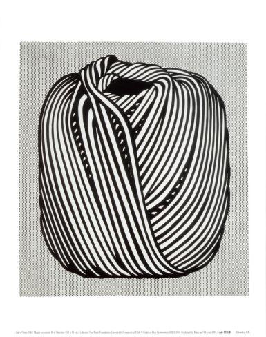 Roy Lichtenstein, Ball of Twine, 1963; medium weight cover stock with a silken finish; 14 x 11 inches $7.99