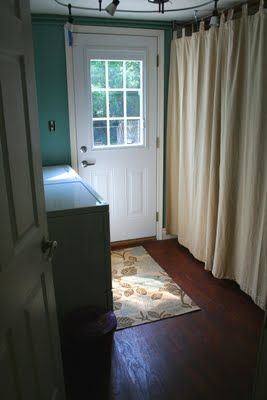 Cover Up Furnace And Hot Water Heater With Curtains Laundry