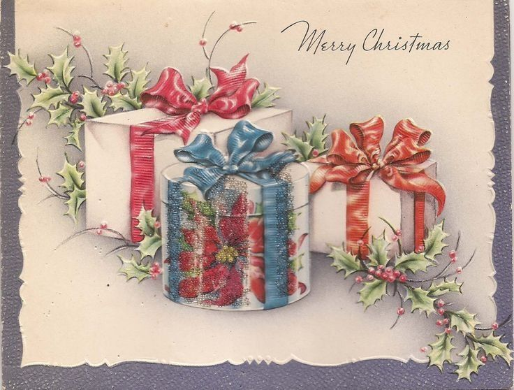 Открытки на рождественские подарки