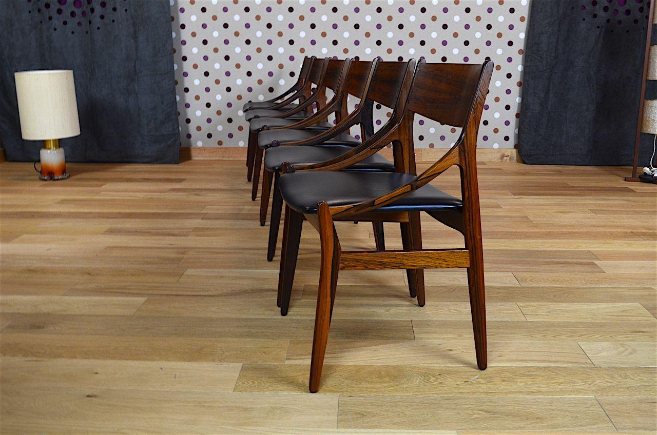 6 chaises danoise en palissandre de rio vestervig eriksen vintage 1960 designer vestervig eriksen diteur - Chaise Danoise