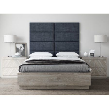 Home King Size Headboard Accent Wall Panels Upholstered Wall