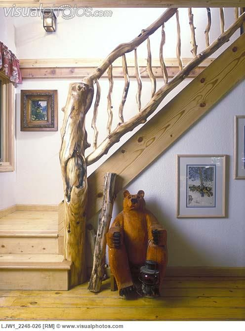 Rustic Country Banister Stairways Rustic Country Staircase