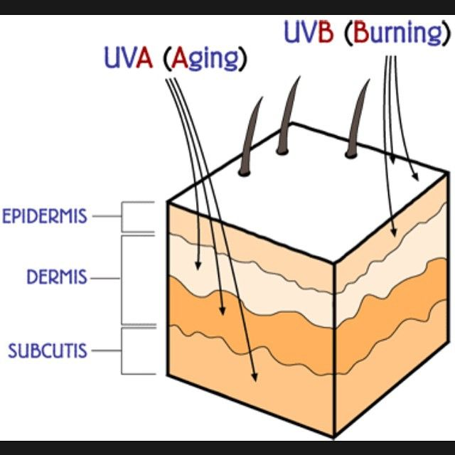 Why its important to wear SPF! because the UVA and UVB rays can cause skin cancer or premature aging.