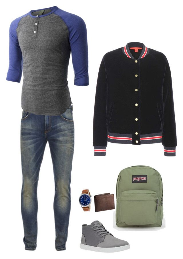 """Dick hs au"" by mettathegreat on Polyvore featuring Scotch & Soda, LE3NO, Swiss Legend, JanSport, Lauren Ralph Lauren, Tommy Hilfiger, women's clothing, women, female and woman"