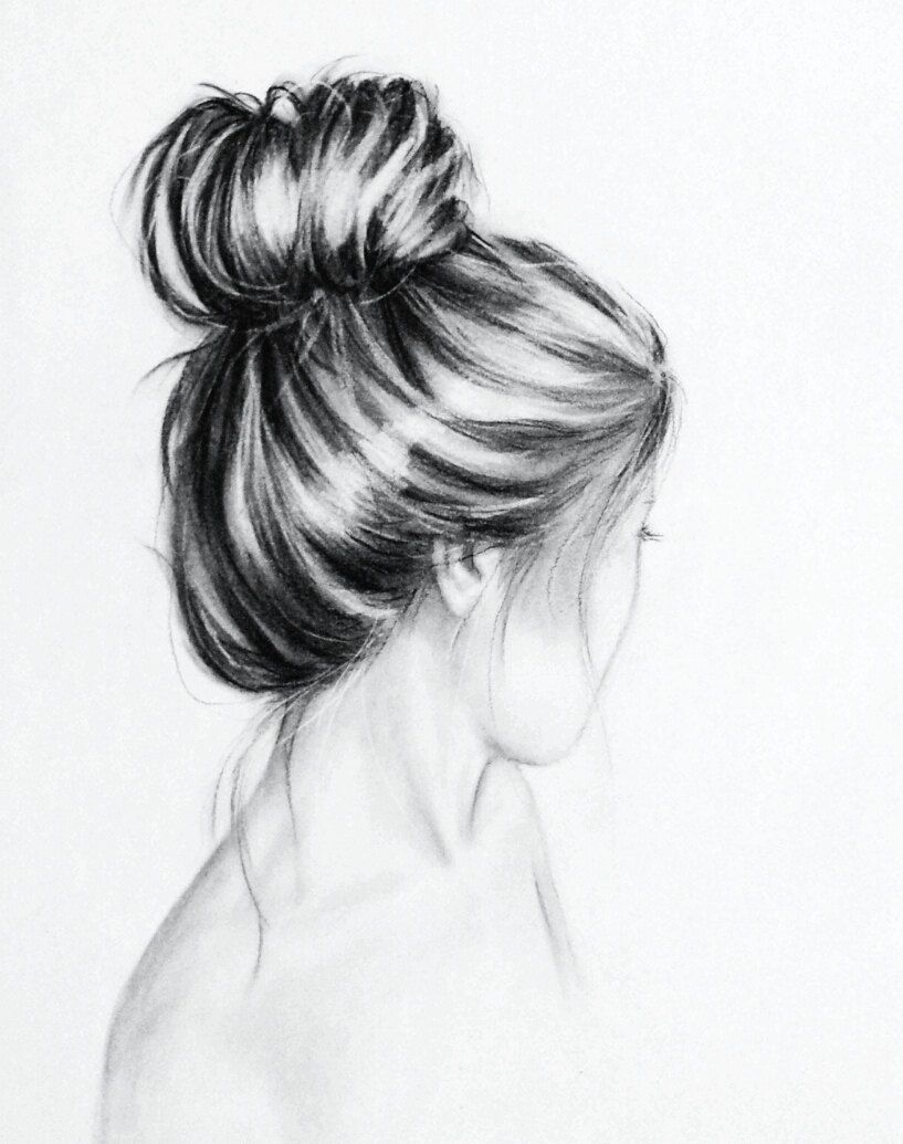 Simple And Pretty Charcoal Drawing