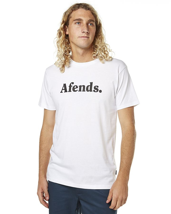 Fashion 4 Men - Afends Afends Ii Mens Tee White