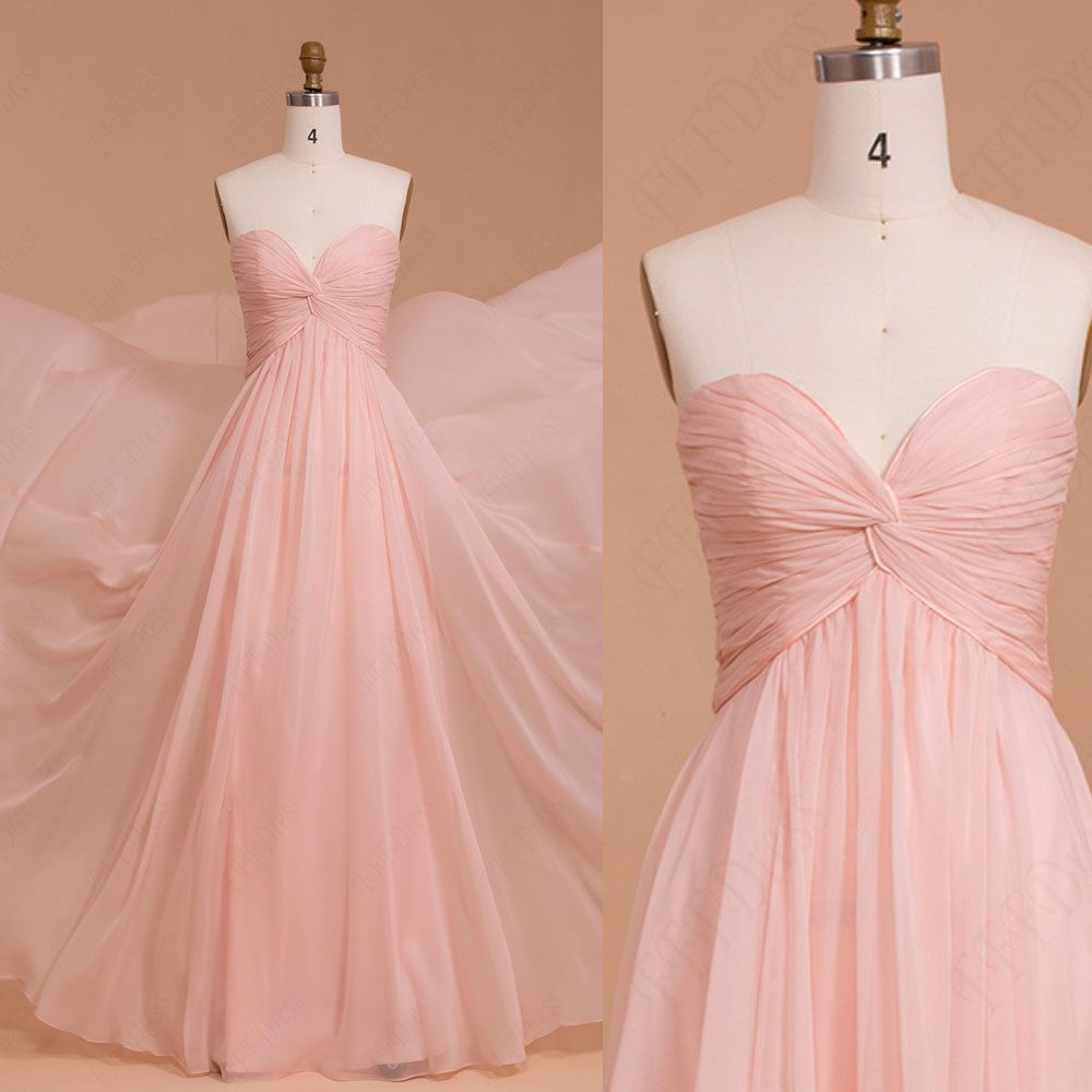 Pink pale long prom dress prom dresses omg pinterest