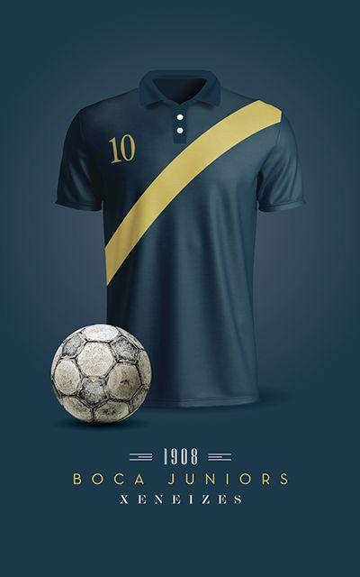 37b2035bcca9a Boca Juniors - Camiseta 1908